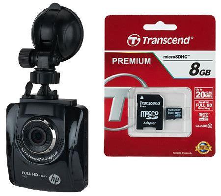Memory Card Hp 8gb hp car camcorder f500 with 8gb memory card e227395 qvc