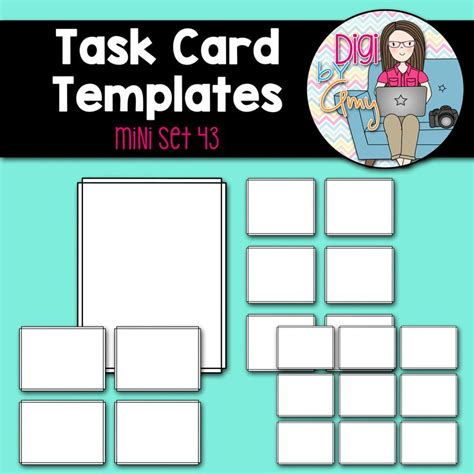 task card templates 10 best digi by images on card