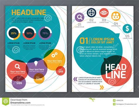 online templates for posters set of vector template for brochure flyer poster