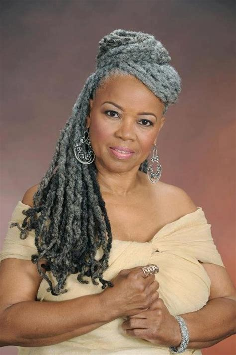 dreadlocks hairstyles for women over 50 grey dreadlocks beauty of natural gray hair pinterest