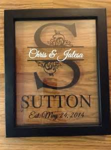 personalized last name floating frame 8x10 floating