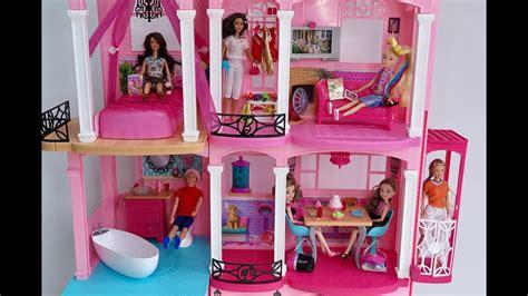 youtube barbie doll house barbie house tour barbie dollhouse playset youtube