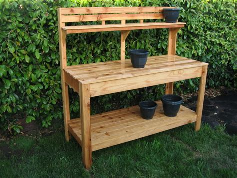Potters Benches Garden Potting Bench Plans Home Design Ideas