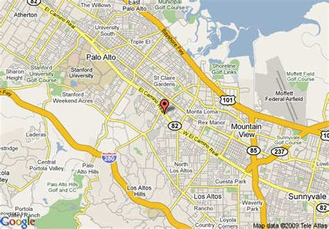 map of stanford california map of best value inn palo alto stanford palo alto