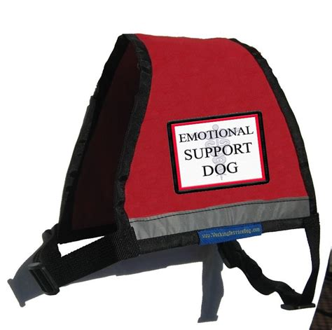 emotional support reflective emotional support vest with id badge holder