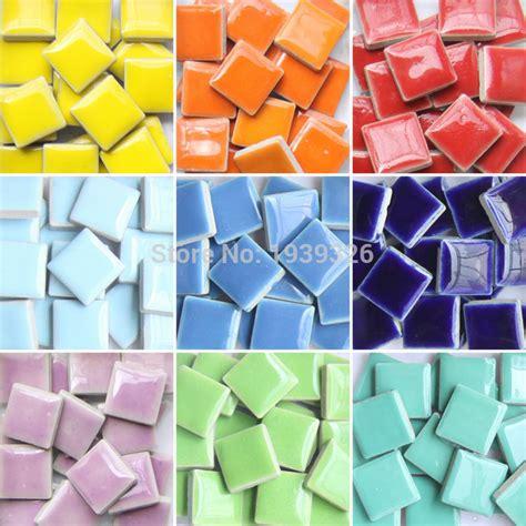 diy colorful mosaic tiles 200pieces wall craft aquarium decoration natural glass stone and
