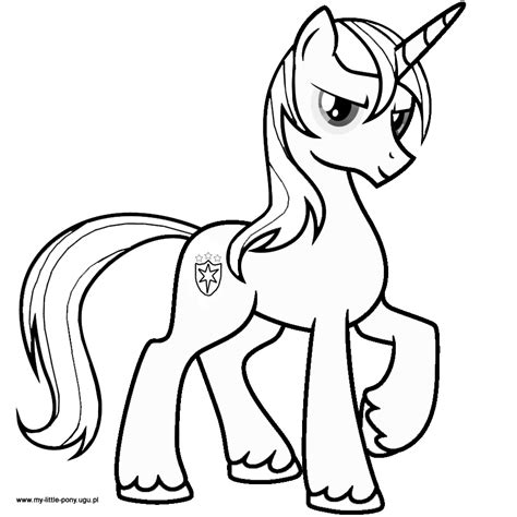 pony shining armor coloring pages