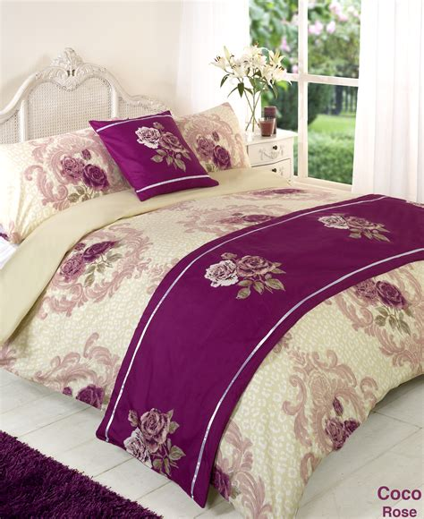 Duvet Quilt Bedding Bed In A Bag Purple Single Double King Single Bed In A Bag Set
