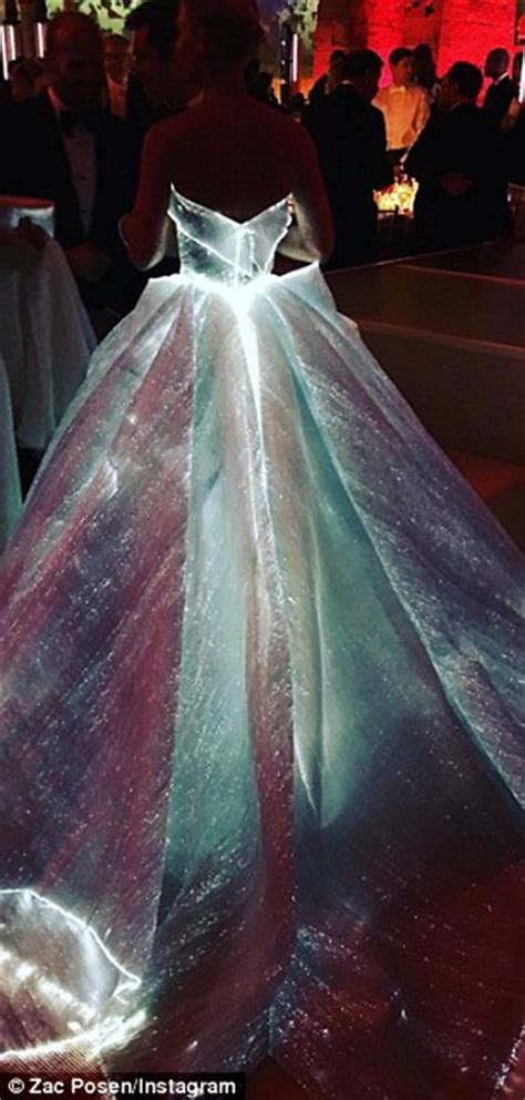 light up dress danes channels cinderella at the met gala in a