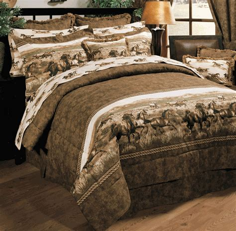 ez bed twin western bedding twin size wild horses ez bed set lone