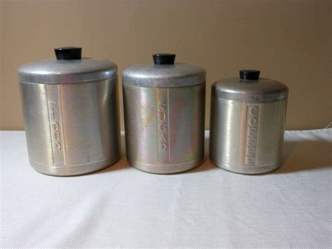 vintage metal kitchen canister sets vintage metal canister set by 2cool2toss on etsy