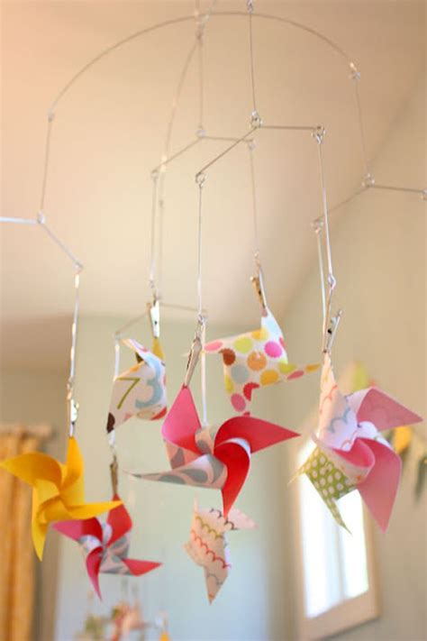 How To Make A Paper Mobile For Nursery - a adorable batch of diy baby mobiles