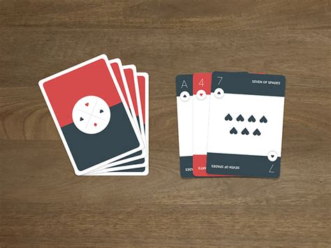 make deck of cards material design cards uplabs
