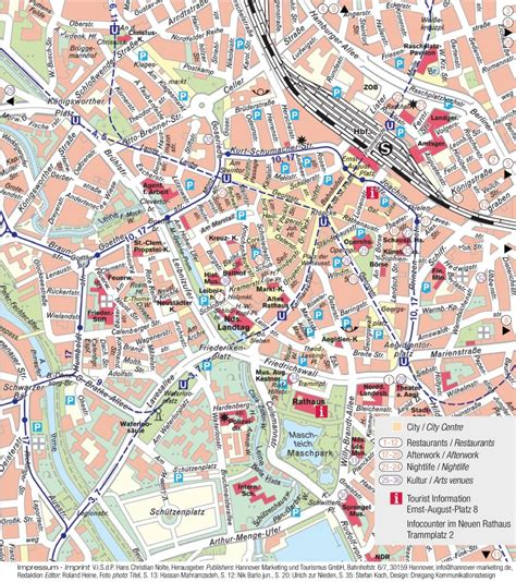 tourist map germany hannover tourist map