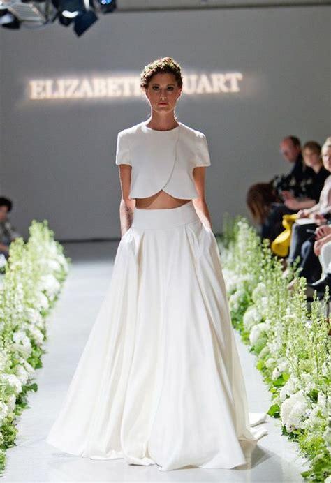 Top Wedding Dresses by Gorgeous Crop Top Wedding Dress Inspiration Bridal Musings