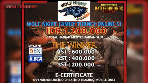 turnamen pubg mobile wolf night family