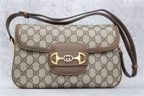 gg monogram shoulder s gobelini gucci brown gg monogram shoulder bag with flap at s
