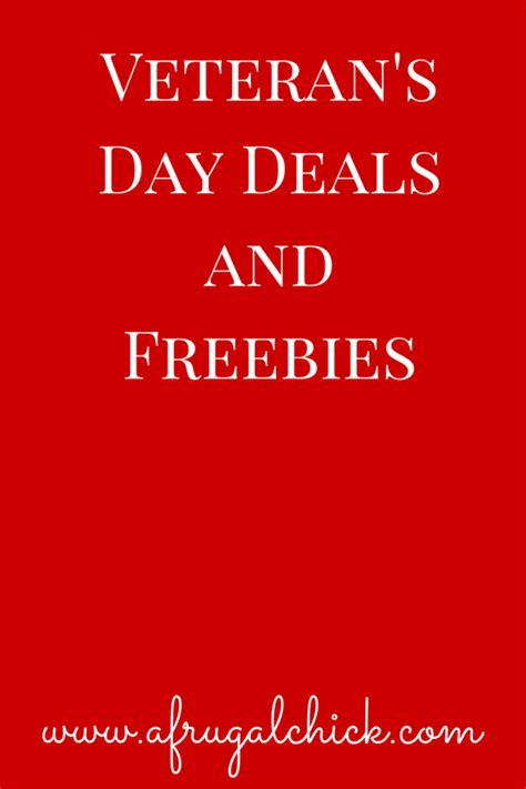day deals veterans day deals and freebies 2014