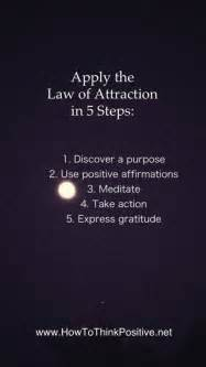 apply the law of attraction in 5 steps