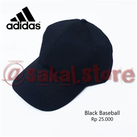 topi hitam polos baseball cap black cowok pria unisex