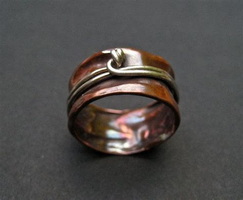 Copper Handmade Jewelry On Etsy - ooak copper spinner ring