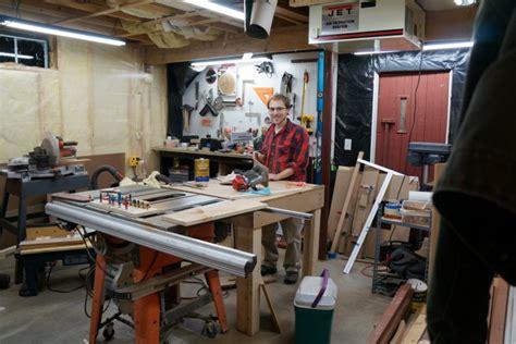 michael s garage workshop the wood whisperer michael s basement workshop the wood whisperer