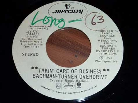 Posh Taking Care Of Business by Bachman Turner Overdrive Bto Quot Takin Care Of Business