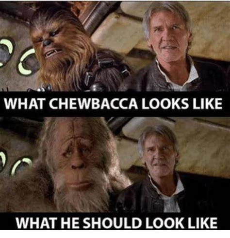 Chewbacca Memes - what chewbacca looks like what he should look like