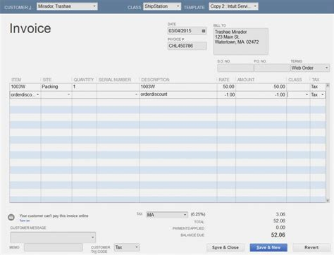 quickbooks invoice template 100 images bill estimate