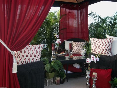 patio pizazz indoor outdoor patio gazebo drapes panels