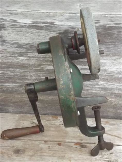old bench grinder antique hand crank bench grinder the luther lines tool