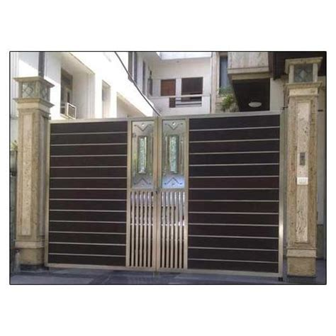 modern house steel gate stainless steel gate stainless steel modern gate manufacturer from hyderabad