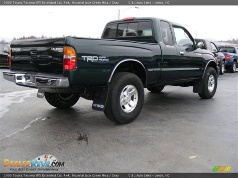 2000 Toyota Tacoma 4x4 2000 Toyota Tacoma Sr5 Extended Cab 4x4 Imperial Jade