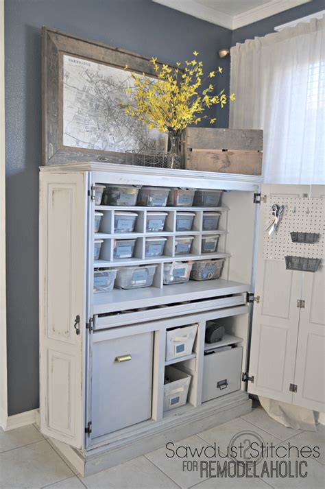 remodelaholic craft cabinet makeover