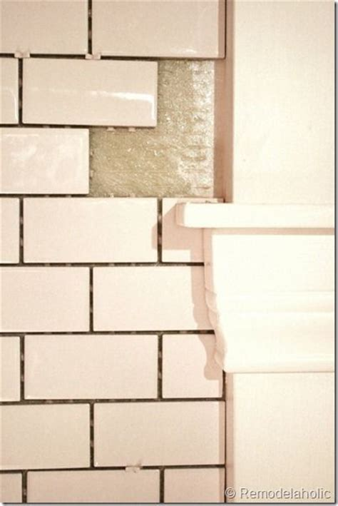 how to install a subway tile kitchen backsplash 17 best ideas about subway tile backsplash on pinterest
