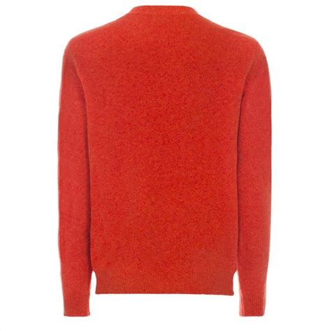 Tj Sweater Orange lyst paul smith s burnt orange lambswool knitted sweater in for