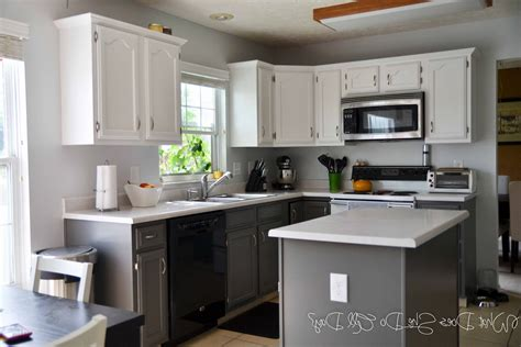 best way to paint kitchen cabinets white kitchen after painted cabinets grey and white diy painting