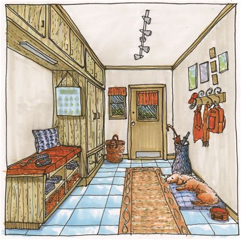 copic coloring  hall marker rendering interiors