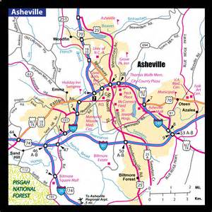 a map of asheville nc asheville area