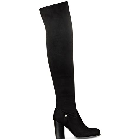 guess the knee boots guess dandra convertible the knee boots in black