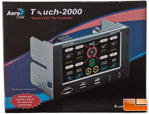 pc fan controller review aerocool touch 2000 lcd fan controller review page 3 of