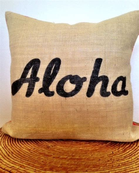 Aloha Pillow by Aloha Tropical Modern Decorative Pillow Cover 18 Quot X 18