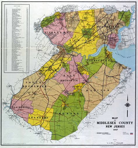 county map of nj new jersey county map
