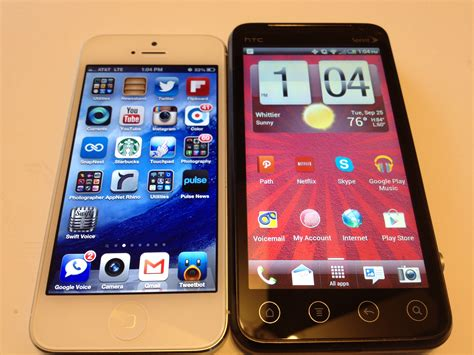 iphone 5 vs htc evo v 4g review attmobilereview vmucare virginmobileus