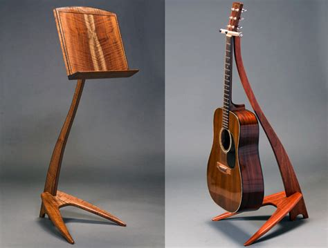 Handmade Wooden Stand - take a stand handcrafted hardwood guitar and stands
