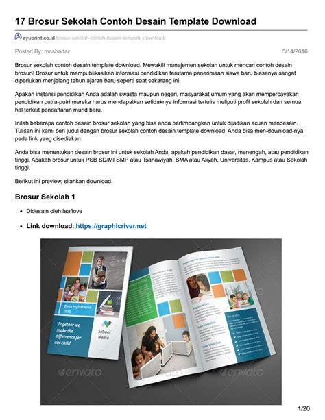 desain brosur sekolah sd ayuprint co id 17 brosur sekolah contoh desain template