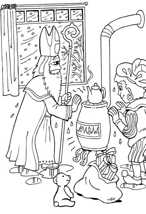 st nicholas coloring page az coloring pages