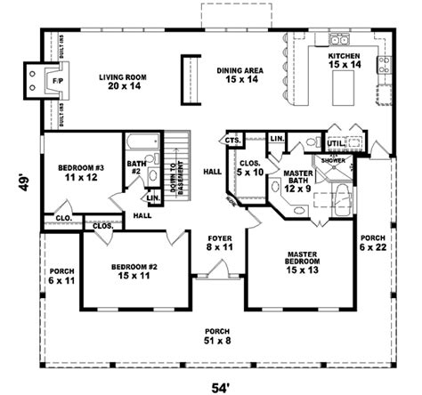 1800 sq ft house plans country style house plans 1800 square foot home 1 story 3 bedroom and 2 bath