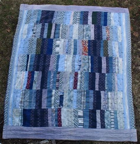 Striped Quilt by Blue Striped Quilt Quilts