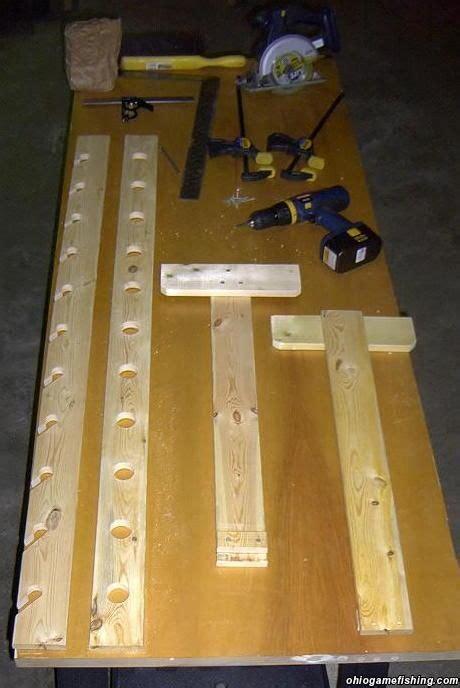 diy fishing pole storage home  rod rack pqic
